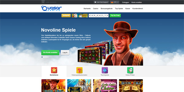 Quasar Gaming Book of Ra Novoline online spielen bei der Stargames Alternative